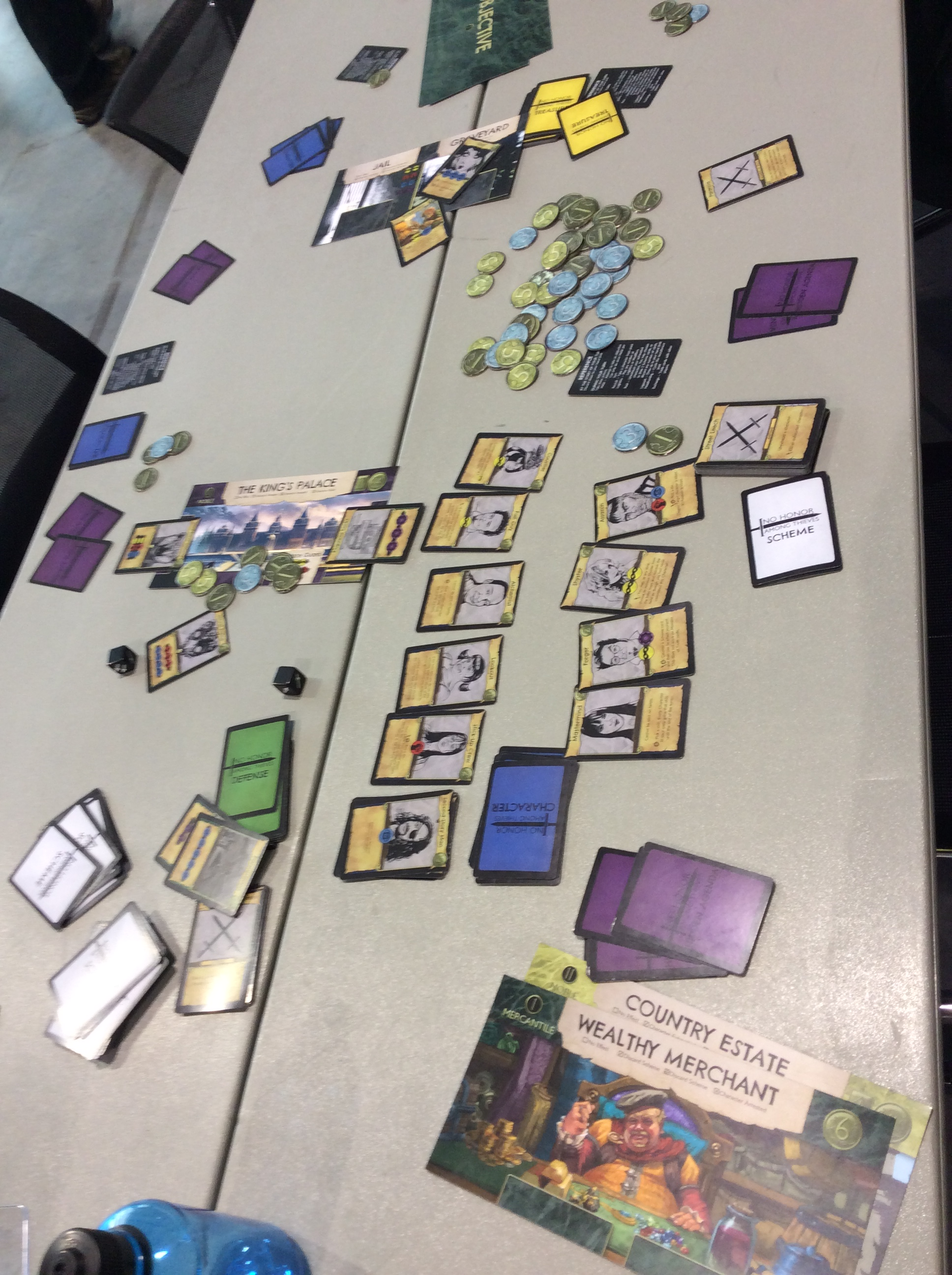 No Honor Among Thieves game laid out on the table